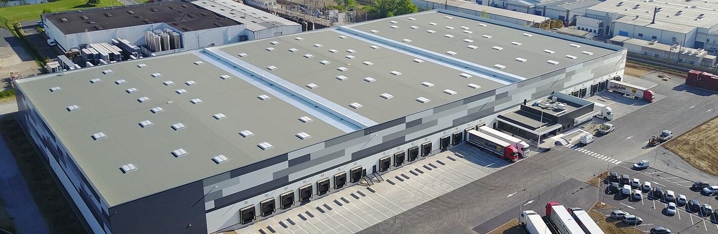 Vue aérienne de notre entrepôt