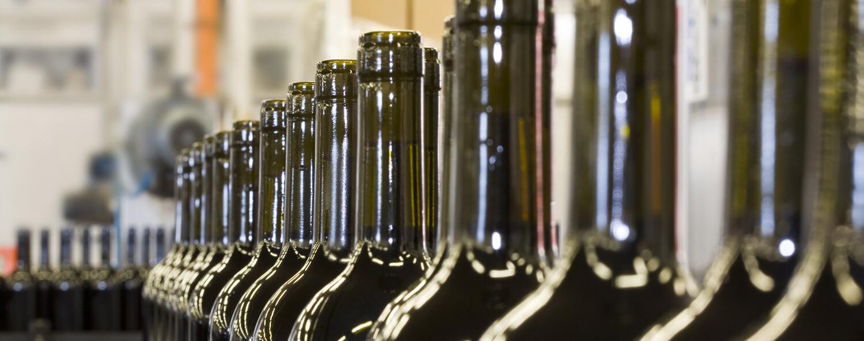 Vue rapprochée de plusieurs bouteilles vides